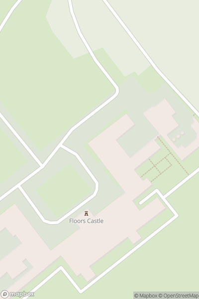 A map indicating the location of Floors Castle & Gardens