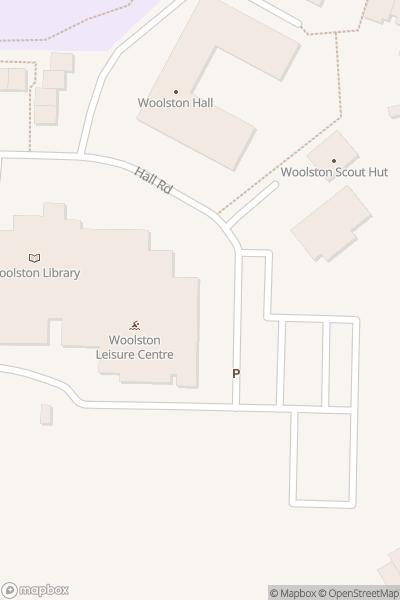 A map indicating the location of Woolston Neighbourhood Hub