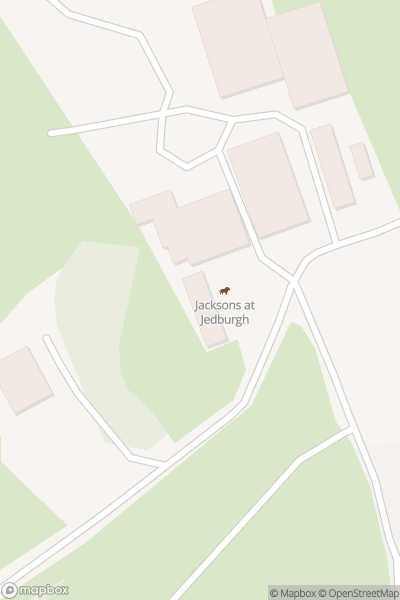 A map indicating the location of Jacksons at Jedburgh