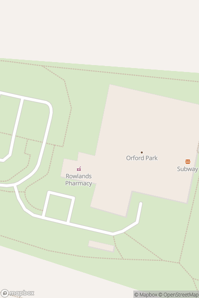 A map indicating the location of Orford Jubilee Neighbourhood Hub