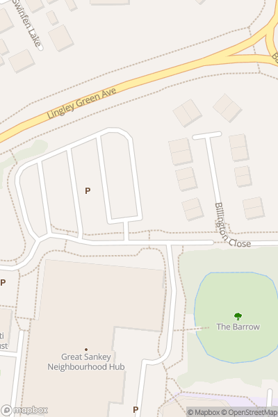 A map indicating the location of Great Sankey Neighbourhood Hub