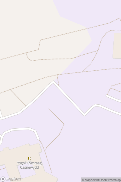 A map indicating the location of Llanwern High School