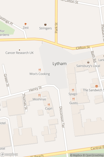 A map indicating the location of Lytham Heritage Centre