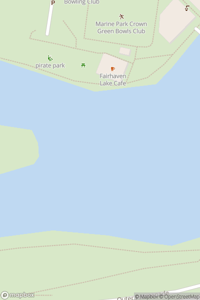 A map indicating the location of Fairhaven Lake