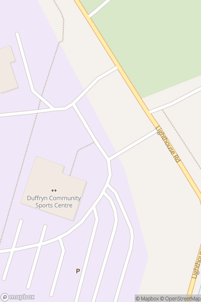 A map indicating the location of The John Frost School