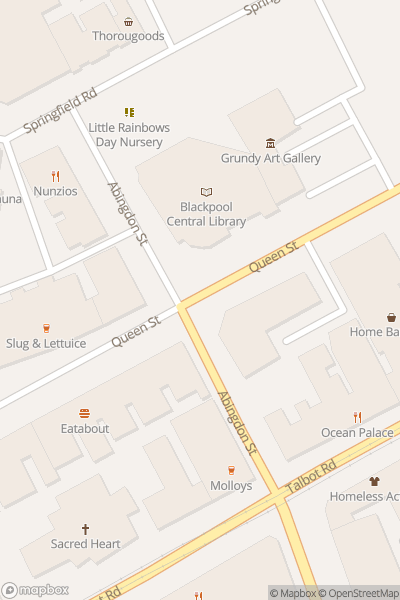 A map indicating the location of Central Library