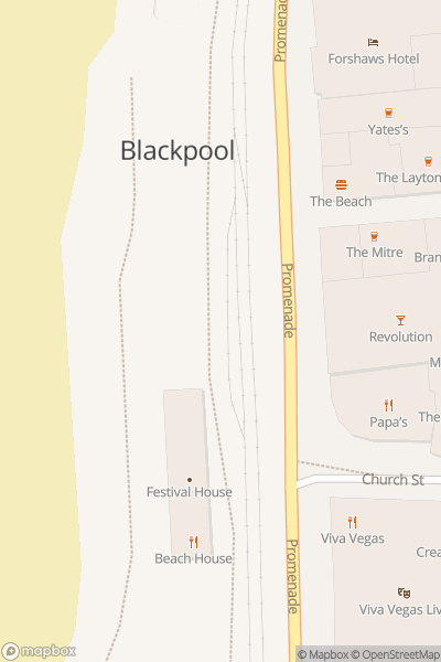 A map indicating the location of Blackpool Heritage Tram Tours