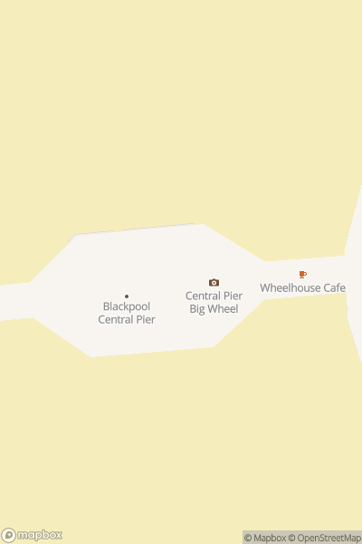 A map indicating the location of Central Pier