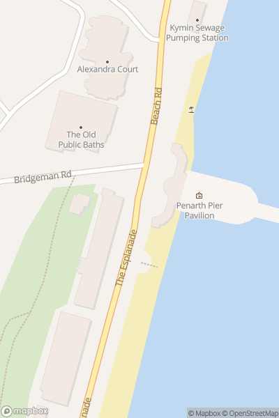 A map indicating the location of Penarth Summer Festival