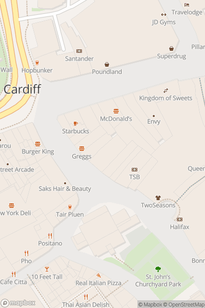 A map indicating the location of Escape Reality Cardiff