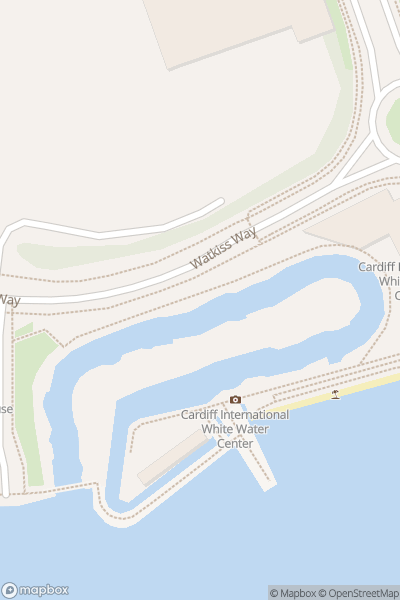 A map indicating the location of Cardiff International White Water