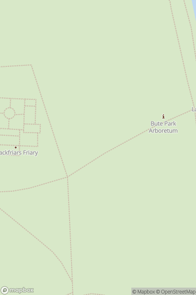A map indicating the location of Bute Park