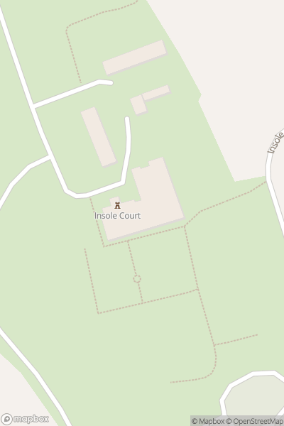A map indicating the location of Insole Court