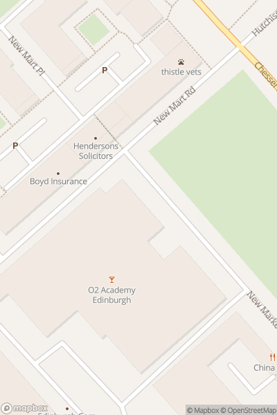 A map indicating the location of A Massaoke Night at the Musicals