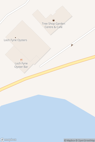 A map indicating the location of Loch Fyne Oyster Bar (Cairndow)
