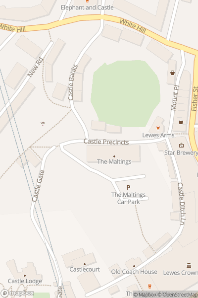 A map indicating the location of Lewes Craft Market