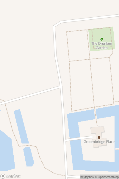 A map indicating the location of Groombridge Place