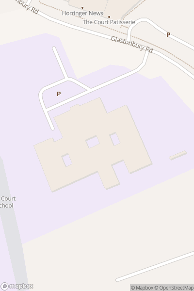 A map indicating the location of Horringer Court Middle School