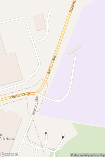 A map indicating the location of Abbeygate Sixth Form College