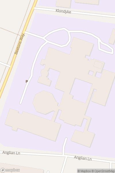 A map indicating the location of County Upper School
