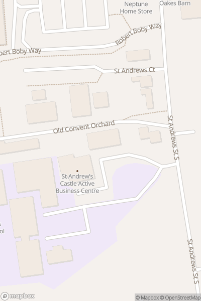 A map indicating the location of Bury St Edmunds