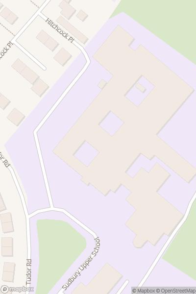 A map indicating the location of Ormiston Sudbury Academy