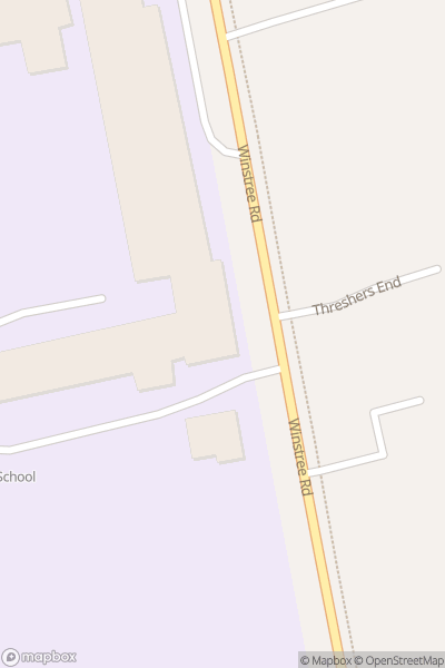 A map indicating the location of Stanway School