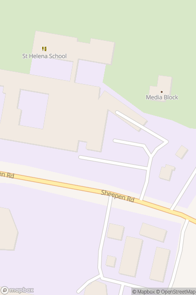 A map indicating the location of St Helena School