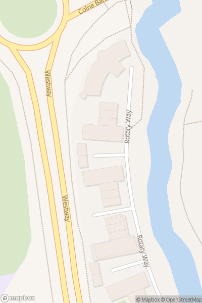A map indicating the location of Colchester Town and Castle