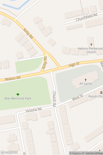 A map indicating the location of Walton-on-the-Naze