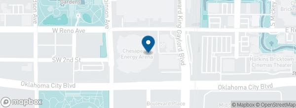 Chesapeake Arena 100 West Reno Avenue Oklahoma City 73102