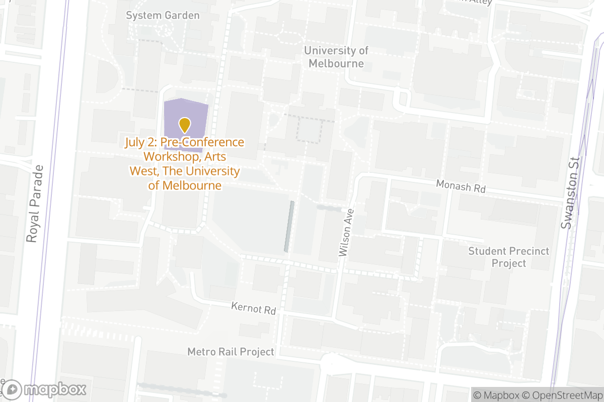 University of Melbourne Map