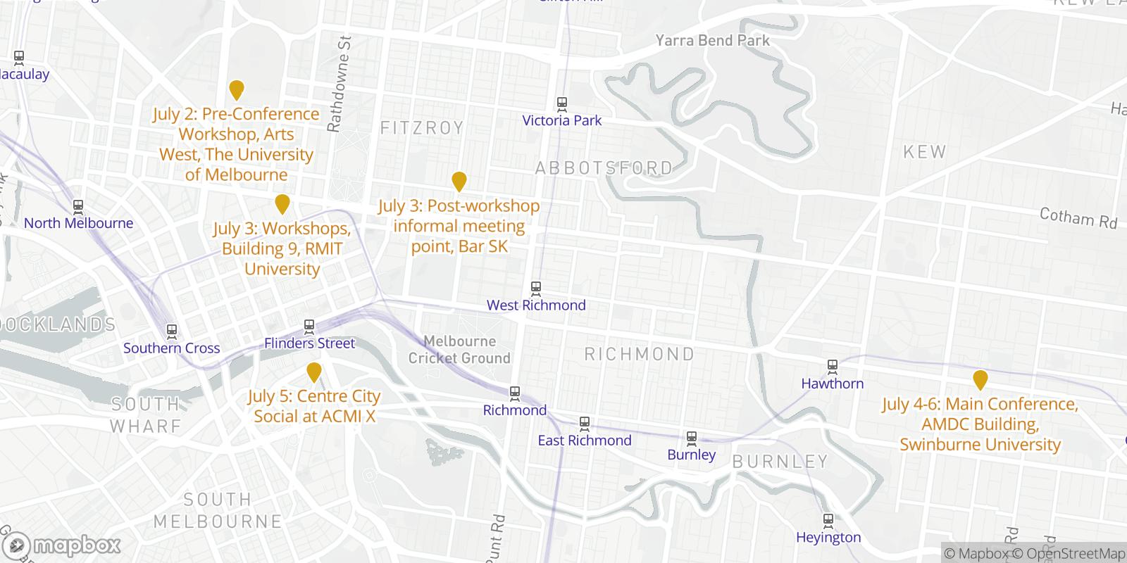 DiGRA 2017 Map