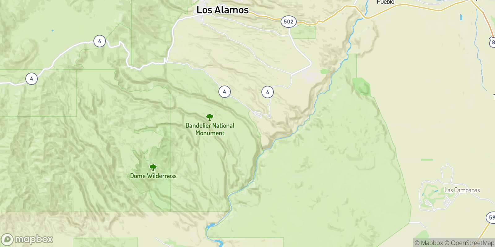 The best camping near Frijoles, New Mexico
