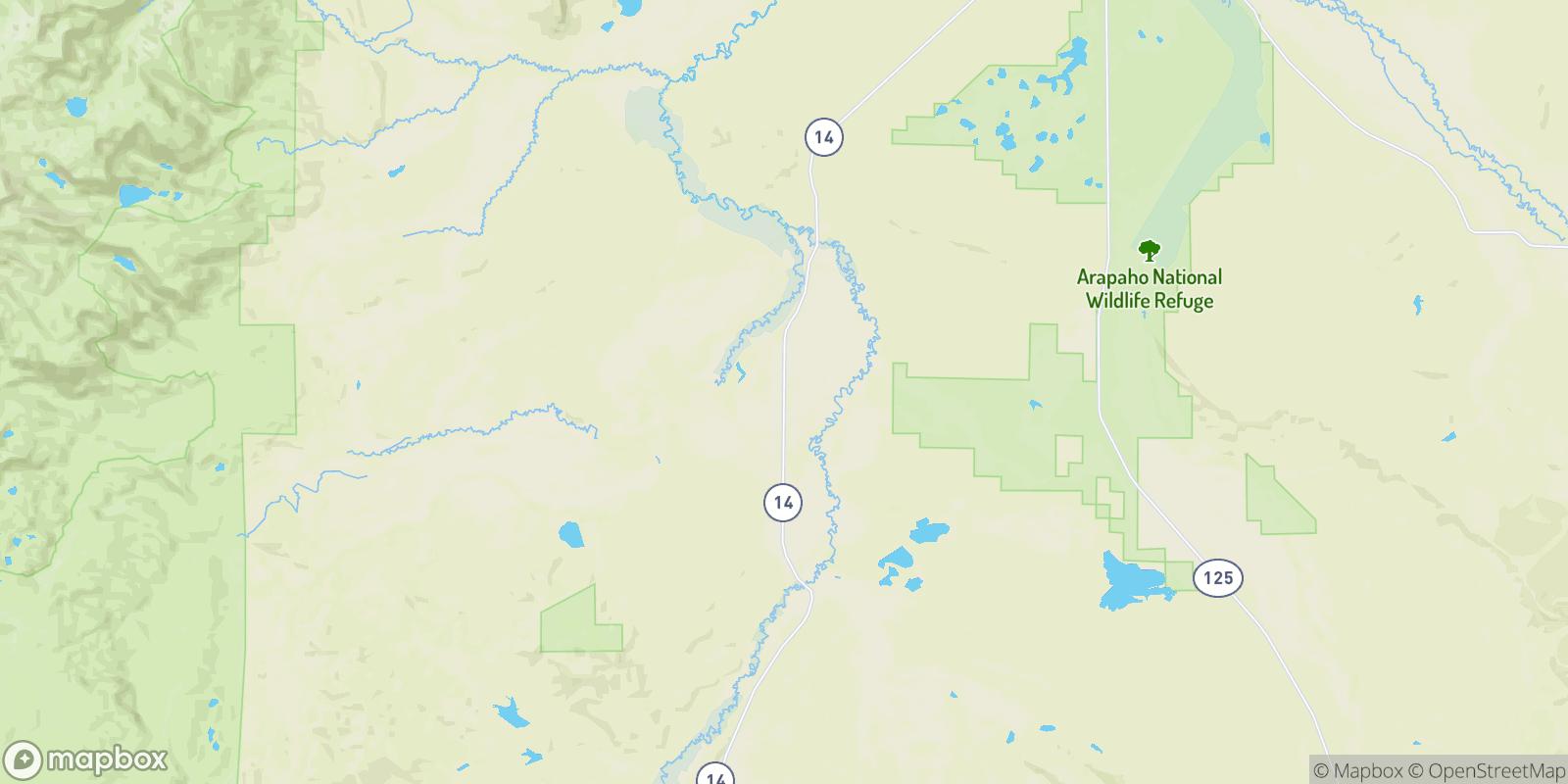 The best camping near Hebron, Colorado