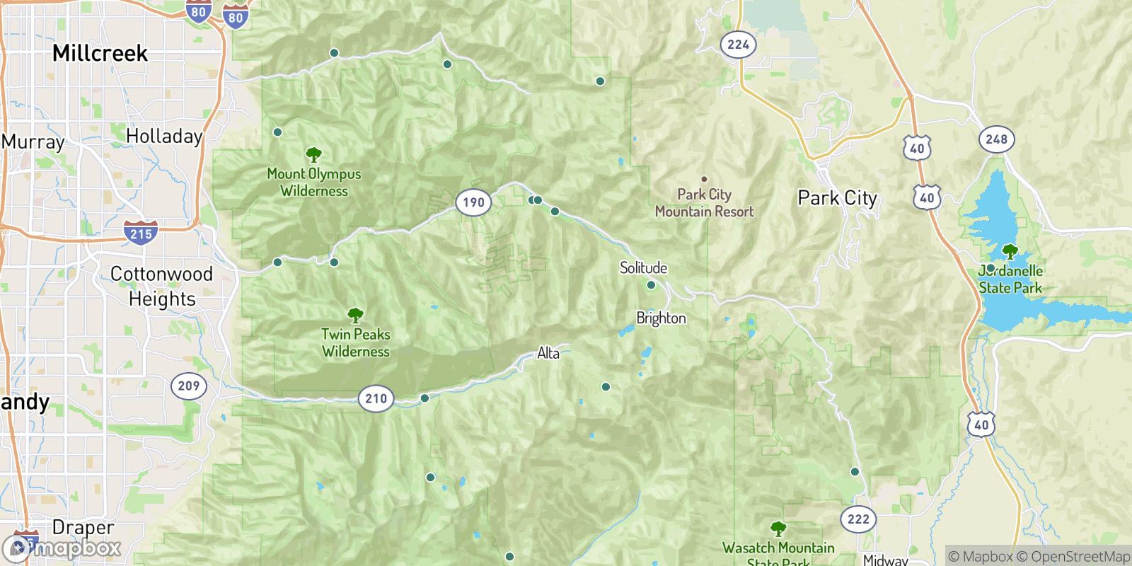 The best camping near Big Cottonwood Canyon Resorts Census Designated Place, Utah