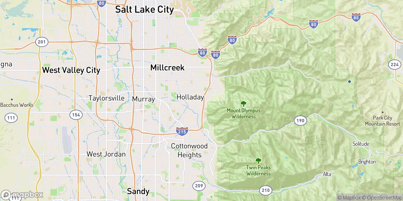 The best camping near Terraces Mount Olympus Condominium, Utah