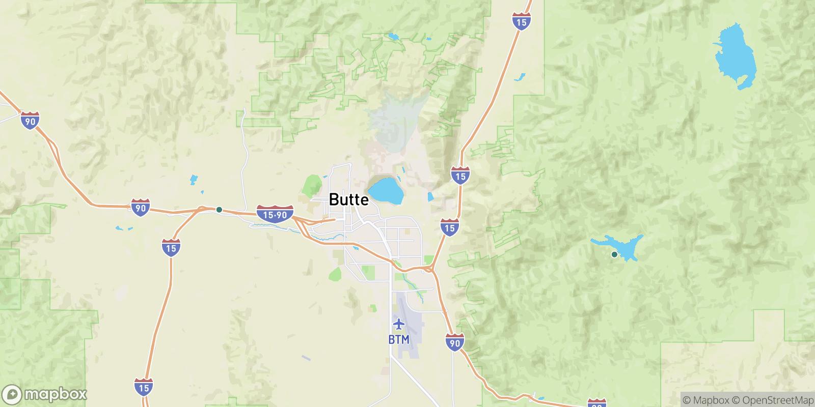 The best camping near East Butte, Montana