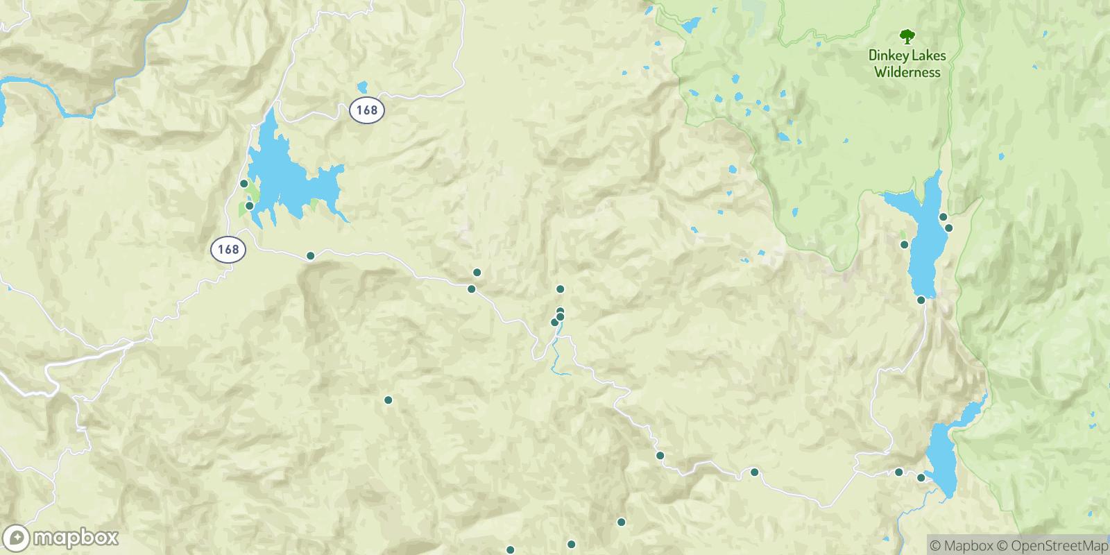 The best camping near Dinkey Creek, California