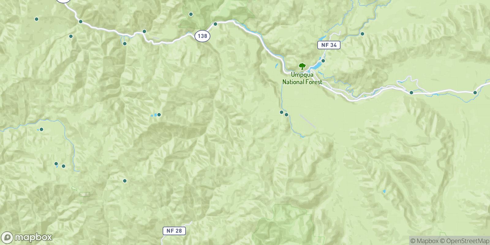 The best camping near Umpqua National Forest, Oregon