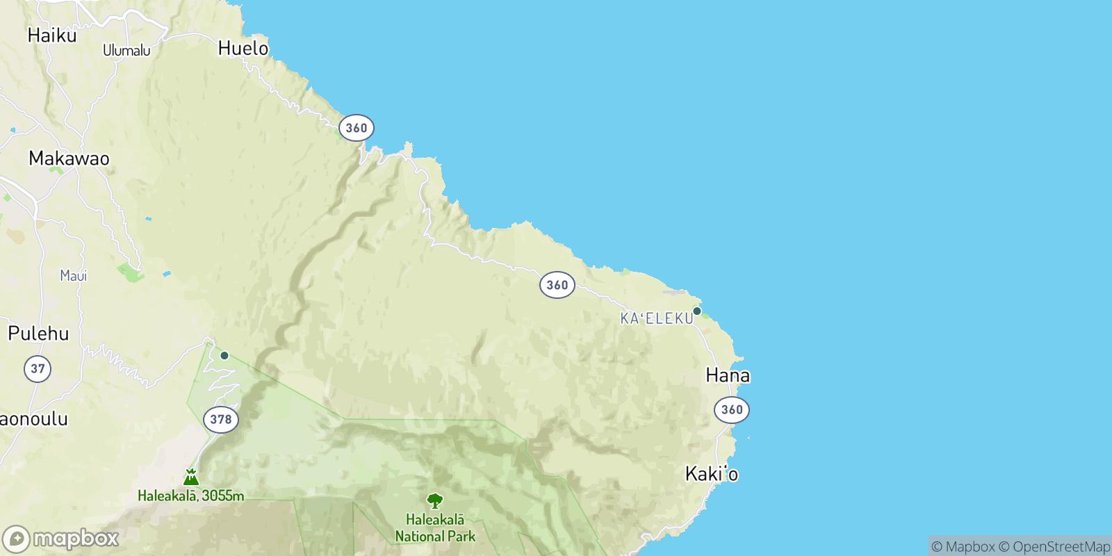 The best camping near Upper Nahiku, Hawaii