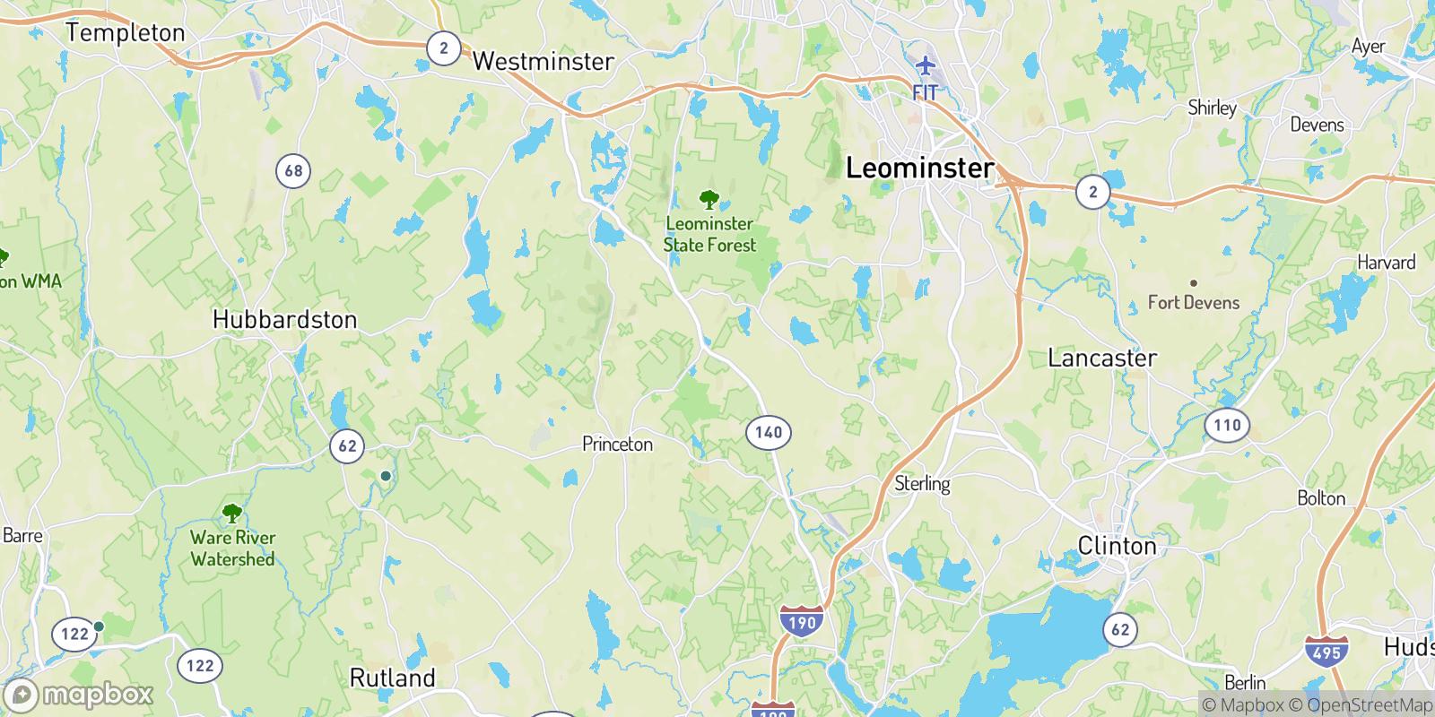 The best camping near East Princeton, Massachusetts