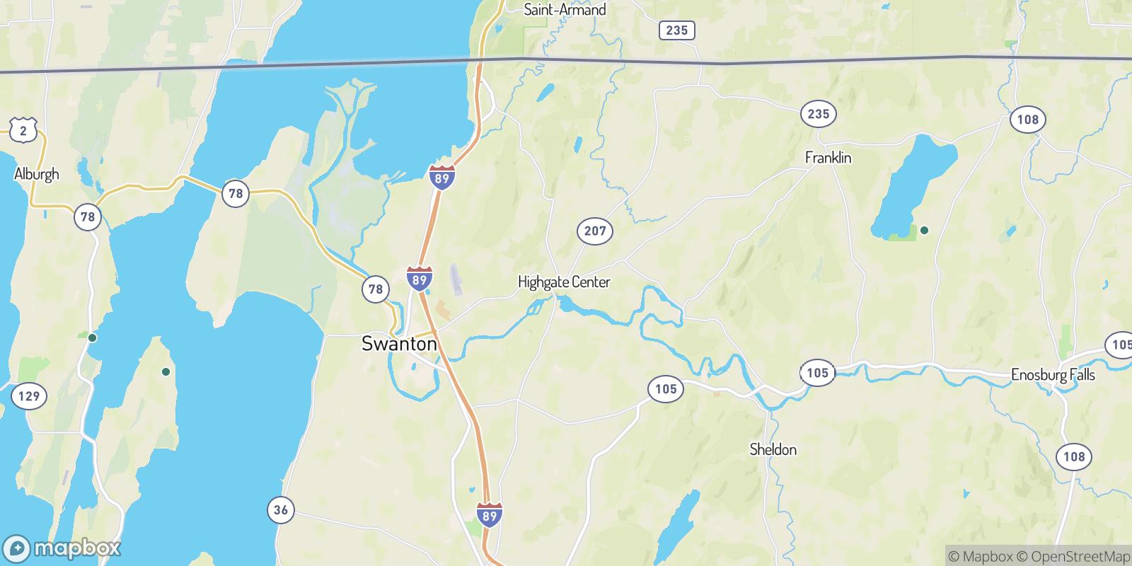 The best camping near Highgate Center, Vermont