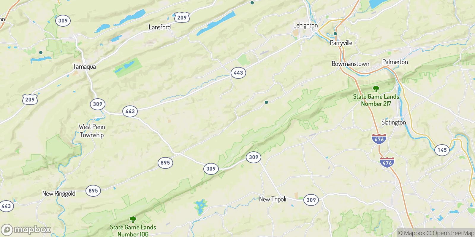 The best camping near Andreas, Pennsylvania