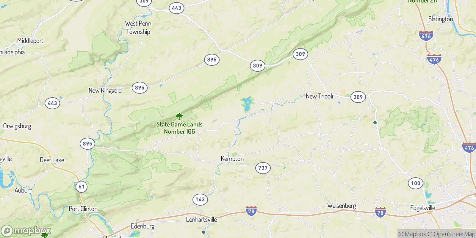 The best camping near Wanamakers, Pennsylvania