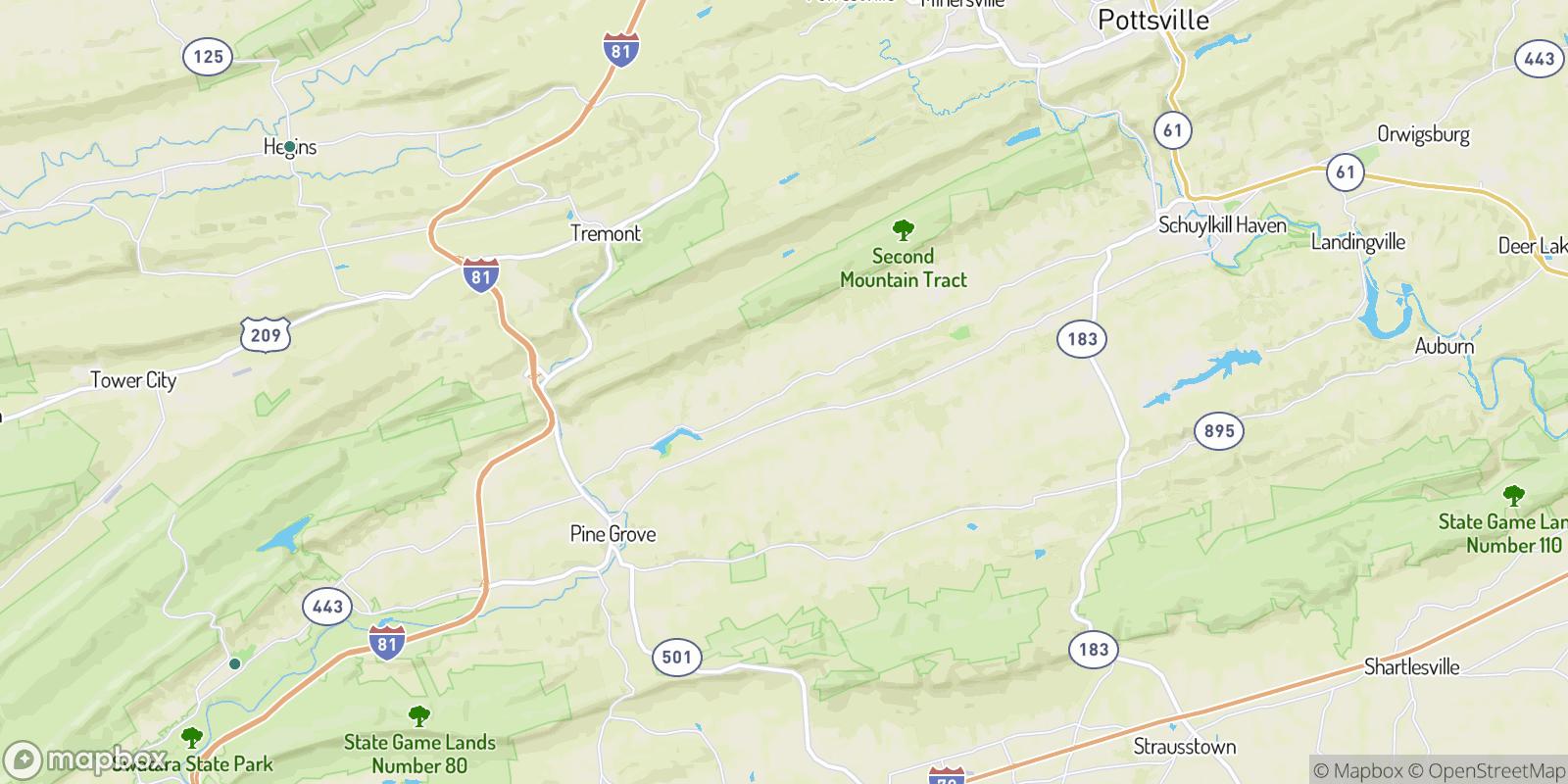 The best camping near Roedersville, Pennsylvania