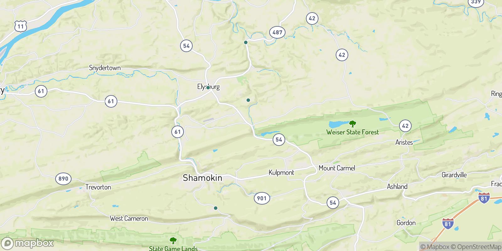 The best camping near Bear Gap, Pennsylvania