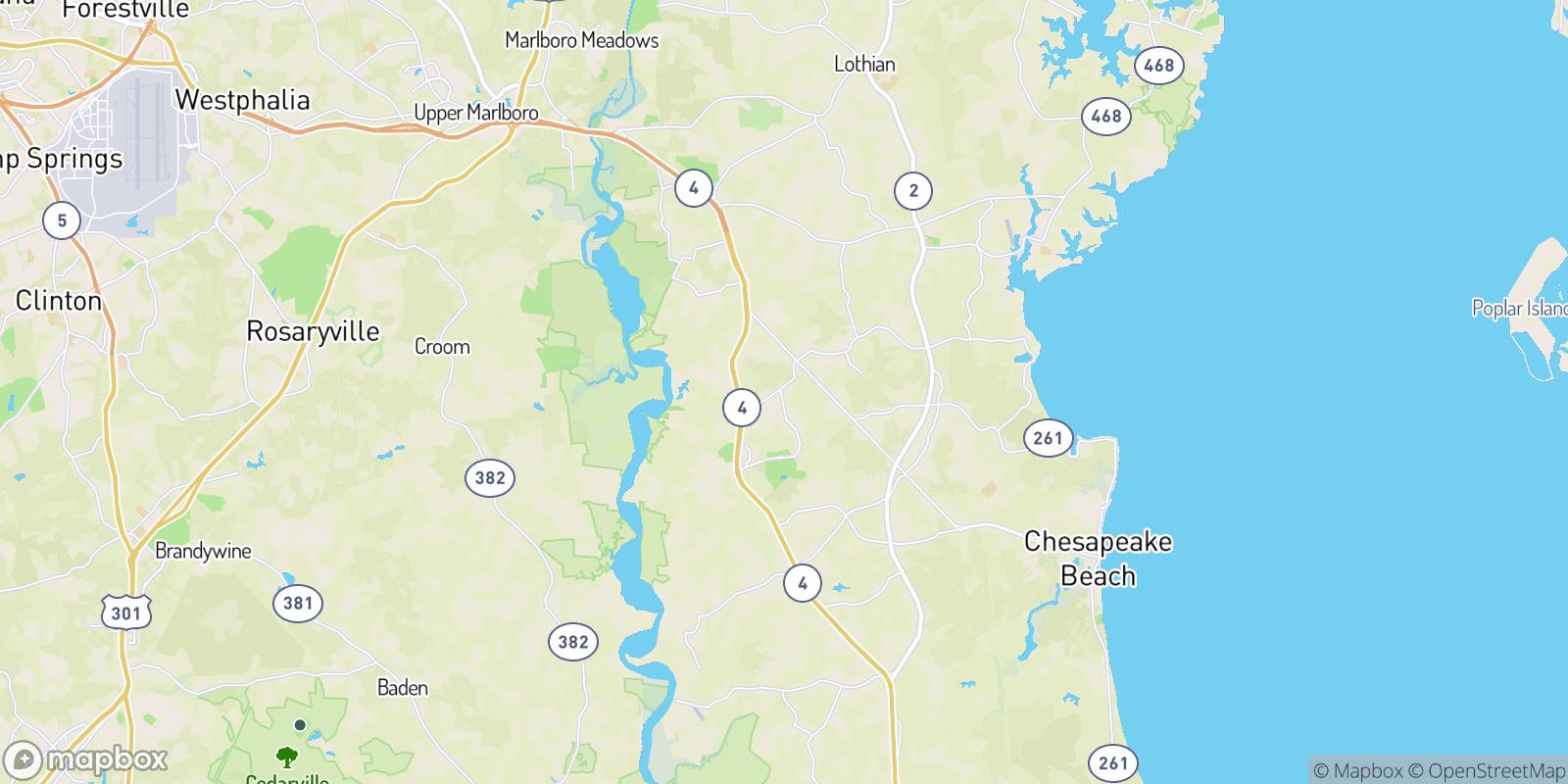 The best camping near Fox Hunt Estates, Maryland