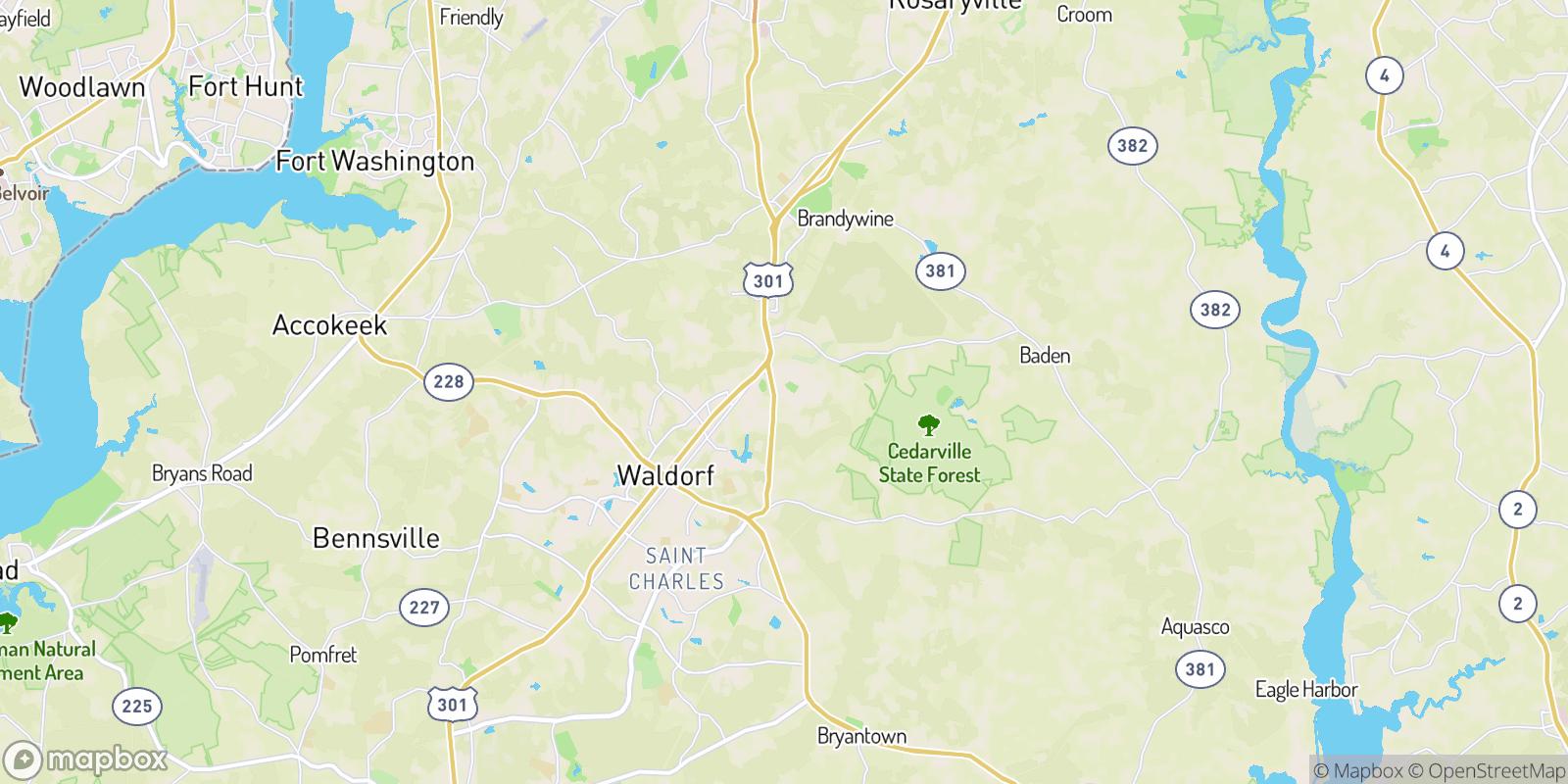 The best camping near Mattawoman Estates, Maryland