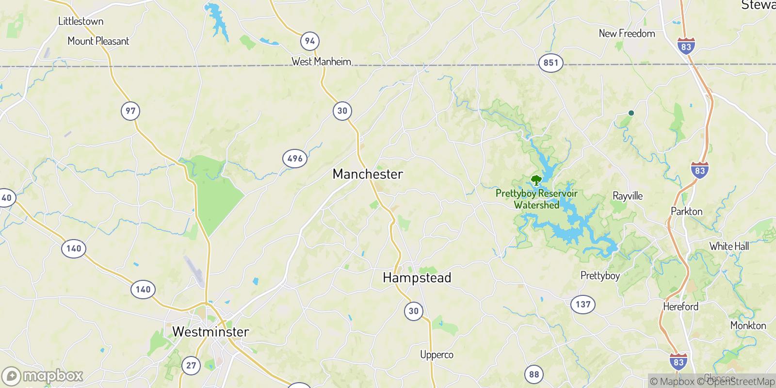 The best camping near Treelin Manor, Maryland